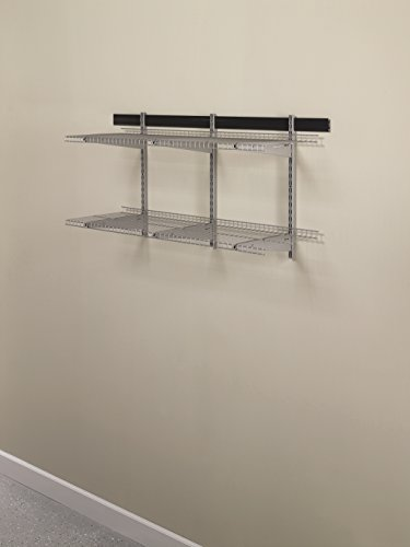 mesh shelving systems rubbermaid fasttrack garage storage system wire mesh shelf 16 quot fge21ftsnckl ebay 5346