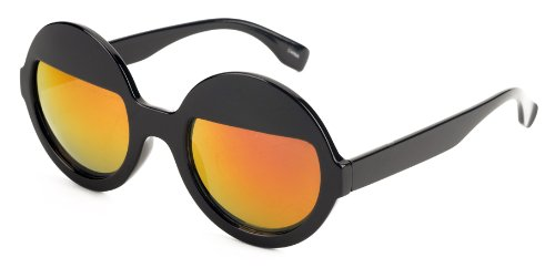 Free S&H Sunglasses - Vintage Round Half Tint in Black Frame and Color Change Lenses - Tint Oakley