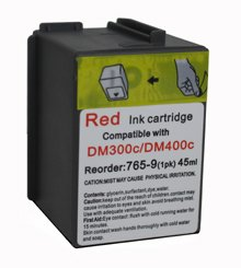 Pitney Bowes 765-9 Remanufactured Red Personal Post Postage Meter Ink Cartridge for Pitney Bowes Dm300c, Dm400c, Dm450c Mailing Station