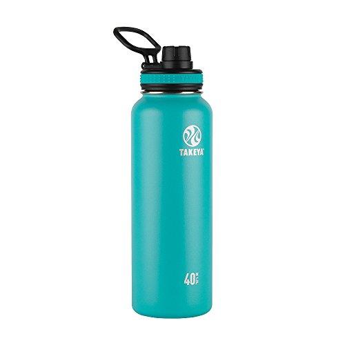 Takeya 50024 Originals Vacuum-Insulated Stainless-Steel Water Bottle, 40oz, Ocean, 40 oz,