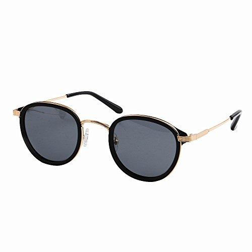 de marco sol redondas sol fibra de los al Lente metal Protección para gafas hombres de Gafas acetato de ligero TAC polarizadas Pesca Gafas Conducción de Ultra de Negro y hombre libre aire UV Playa q0ITCwXx