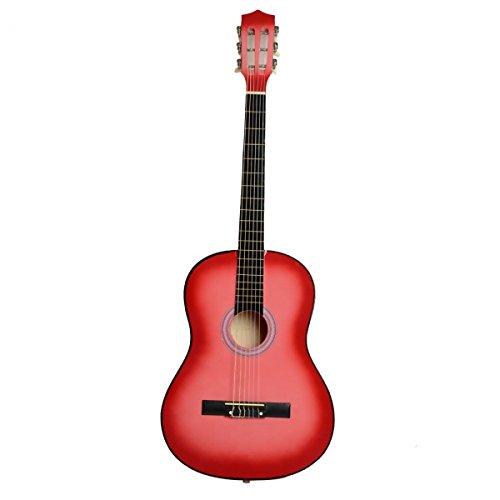 Soogo 38'' Acoustic Classic Guitar + Pick + Strings Pink by Soogo