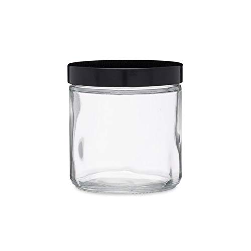 16 oz Clear Glass Straight Sided Squat Jar (PP Cap) Case 12 by Berlin Packaging