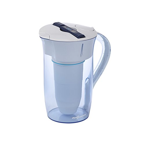 ZeroWater, 10 Cup Round Pitcher with Free Water Quality Meter, BPA-Free, NSF Certified to Reduce Lead and Other Heavy Metals