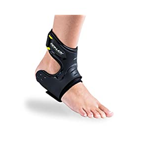 DonJoy Performance POD Ankle Brace, Best Support for Stability, Ankle Sprain, Roll, Strains for Football, Soccer, Basketball, Lacrosse, Volleyball - Small - Left - Black