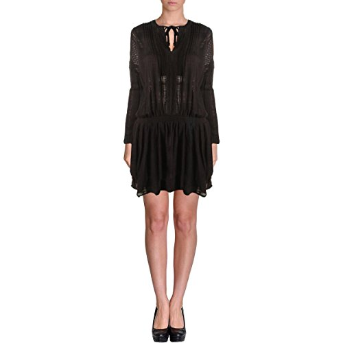 UPC 888374337072, Free People Womens Juniors Crochet Trim Lace Casual Dress Black L