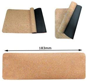 Carry Strap Exercise Thick Fitness VLFit Natural Cork Yoga Mat Non Slip Sweat Absorbent for Home Pilates High Density Eco-Friendly Natural Cork TPE Aerobics and Gym Workout etc