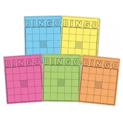 Hygloss Products HYG87125 Blank Bingo Cards Assorted Colors - Blank Bingo Cards