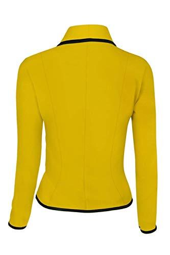 Primaverile Di Tailleur Slim Moda Cappotto Glamorous Camicia Autunno Business Bavero Giacca Casuale Manica Lunga Giallo Semplice Corto Da Donna Eleganti Blazer Fit Prodotto Plus Ufficio 65xYqwz