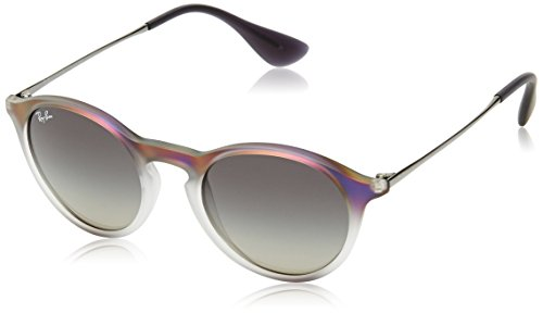 Ray-Ban INJECTED UNISEX SUNGLASS - VIOLET SHOT ON BLACK Frame LIGHT GREY GRADIENT GREY Lenses 49mm (Frame Light Grey Lenses)