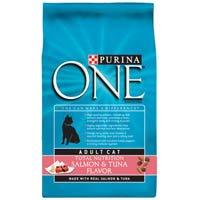 PURINA O.N.E. 178607 4-Pack One Smartblend Salmon/Tuna for Adult Cats, 7-Pound by Purina ONE