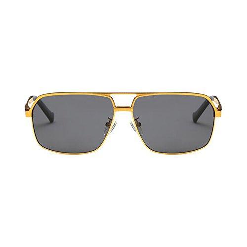 Gafas UV Aire Sol Gafas WYYY Color Cuadrada UVA Oro Clásico Luz Protección Caja Anti Libre Hombres Conducción Gafas Negro De 100 Protección De Solar Polarizada vqwREt
