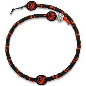 GameWear MLB Baltimore Orioles TFR-MLB-BAO-1-C Baltimore Orioles Cap Logo Team Color Frozen Rope Baseball Necklace,One Size,