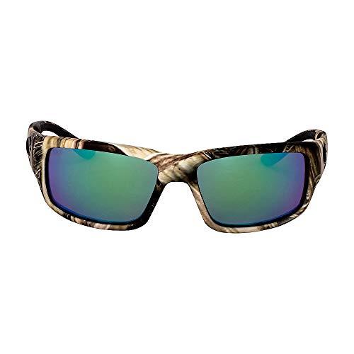 Costa Del Mar Fantail Sunglasses, Mossy Oak Shadow Grass Blades Camo, Green Mirror 580 Glass Lens