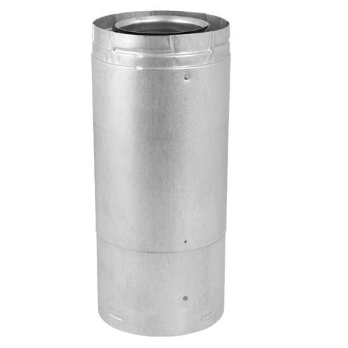 M & G Duravent 0911 4 Inch x 6 Inch DirectVent Pro 11 Inch -14 5/8 Inch Adjustable Galvanized Pipe