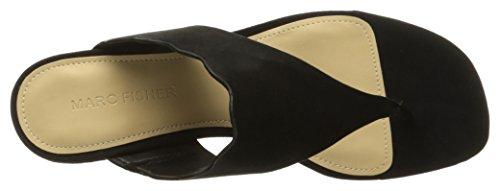 Leger Leder Marc Veva Gleit Split Sandalen Black Toe Frauen Fisher qwXHxYrX