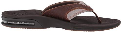 4 Fanning Chanclas Leather brown Eu Br4 bro 47 Marrón Para Hombre Reef qH7x86