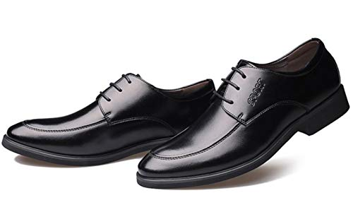 Lederschuhe Kleid Büro Casual Black Invisible Hochzeit Increase Kleid Karriere Shiney Herren Business 6cm gWSq0ww5U