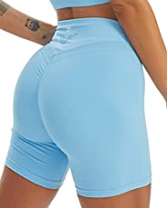 TomTiger Yoga Shorts for Women Tummy Control High Waist Biker Shorts Exercise Workout Butt Lifting Tights Wome