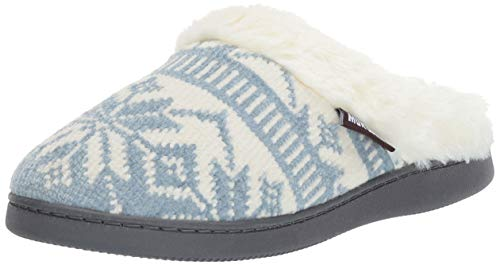 MUK LUKS Women's Briar Slippers Blue, Medium M US
