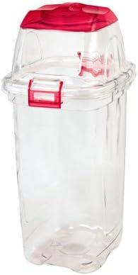 透明ゴミ箱 セキスイ 透明エコダスター 45L 一般用 赤 TPD45R 4個入