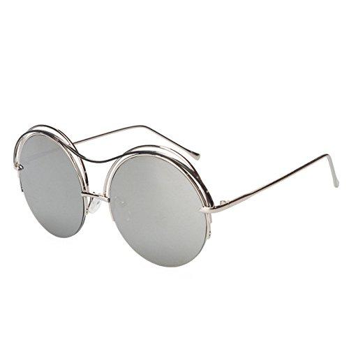 Petites soleil GAOLIXIA réfléchissantes soleil de Uv lunettes de lunettes neutres soleil circulaires de lunettes polarisées Gray lunettes TTgpfrq