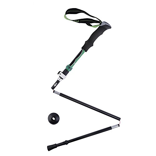OUTAD 7075 Aviation Aluminum Alloy Folding Walking Stick with External Lock