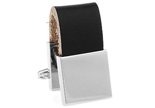 Leather And Silver Cufflinks - 9