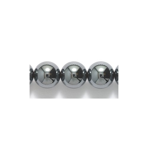 Shipwreck Beads Hematite Round Bead, 8-mm 50-Piece Per Strand, 4 Strands/Pack