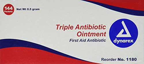 Dynarex Triple Antibiotic Ointment, .5 gram foil packet 12/144/cs
