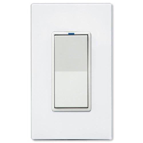 PCS PulseWorx UPB Wall Switch Relay, 10A, White (WS1R-10-W)