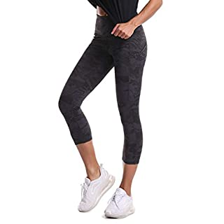 THE GYM PEOPLE Thick High Waist Yoga Pants with Pockets, Tummy Control Workout Running Yoga Leggings for Women (X-Large, Z-Capris Camo)
