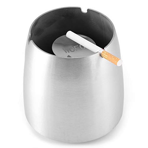 Outdoor Ashtray Windproof Stainless Steel Solid Base Ashtrays Easy Clean Large