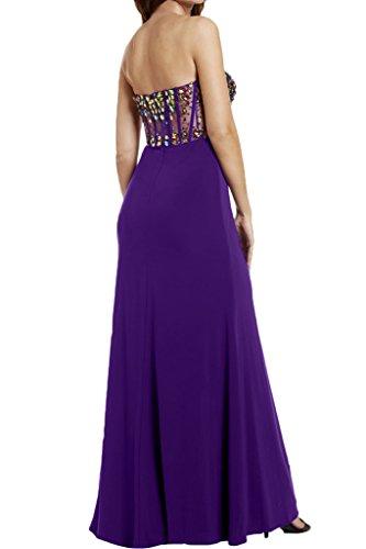 pietre Prom abito Damen da Dress cuore intaglio ressing del forma vestito sera di Fest perle abito Violett ivyd partito a Lussuoso 7ZtUnq