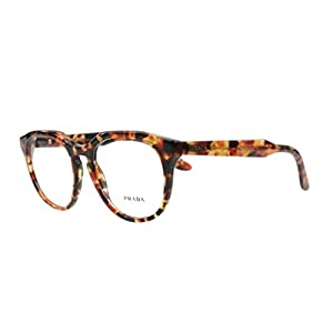 Prada Eyeglasses VPR 13S UBM-1O1 Brown Orange Havana 50mm