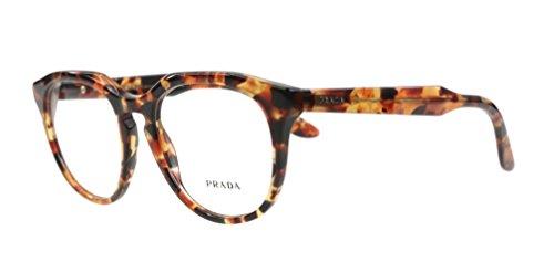 Prada Eyeglasses VPR 13S UBM-1O1 Brown Orange Havana 50mm by Prada