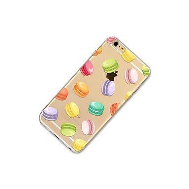 Fundas y estuches para teléfonos móviles, Caso para el iphone 7 más 7 cubra la caja transparente de la contraportada del patrón del caso el tpu suave de la comida para el iphone de ( Modelos Compatibl IPhone 4s/4