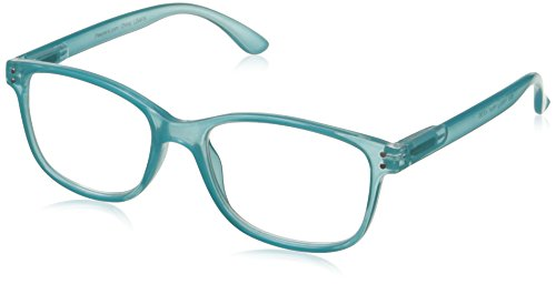 Peepers Unisex-Adult Happy Hour 834300 Square Reading Glasses, - Glasses Reading Aqua
