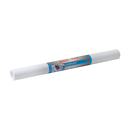 Duck Brand 1063853 Peel N' Stick Laminate Adhesive Shelf Liner, 20-Inch x 15-Feet, White ()