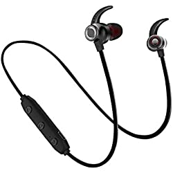 Bluetooth Headphones, Bluetooth 5.0 Wireless Earbuds Deep Bass in-Ear Bluetooth Headset Hi-Fi Stereo Headphones Earbuds for Gym Running Exercise 8 Hours Battery Noise Cancelling Headphones -X5/Black