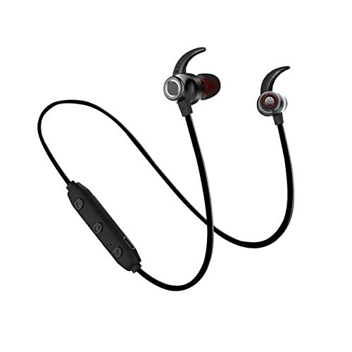 Bokai Nobby Wireless Bluetooth Headphones, Bluetooth 5.0 Noise Cancelling Deep Bass in-Ear Bluetooth Headset Hi-Fi Stereo Headphones Earbuds for Gym Running Exercise