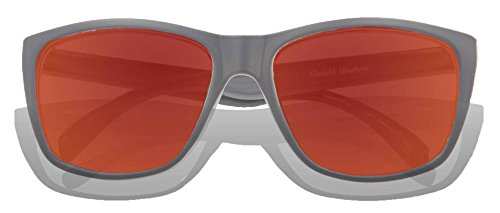 para Gafas sol Lens adultos Matte KZ Grey Frame Red Full de Revo RxwTtdqq7