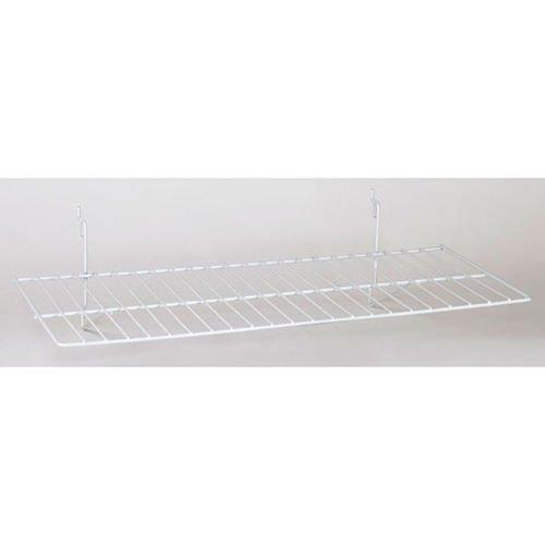 Lot of 8 New White Flat Shelf fits Slatwall, Grid, Pegboard 23-1/2''w x 12''d by Flat Shelf