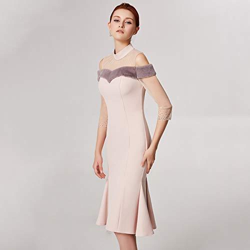 Robe Femelle Soirée Demoiselle Épaule Hôte Mot D'anniversaire Jupe Fête Nouveau D'honneur Cocktailrobe X De Bingqz Aw1vA