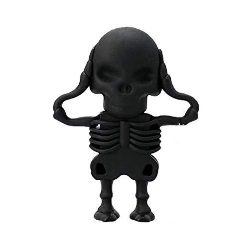 Aritone 8GB 16GB 32GB USB 2.0 Flash Drive Novelty Skull Skeleton Shape Pen Drive Flash Disk Thumb Drive Jump Drive for Fold Data Storage, Memory Stick, (Black, 32GB) -