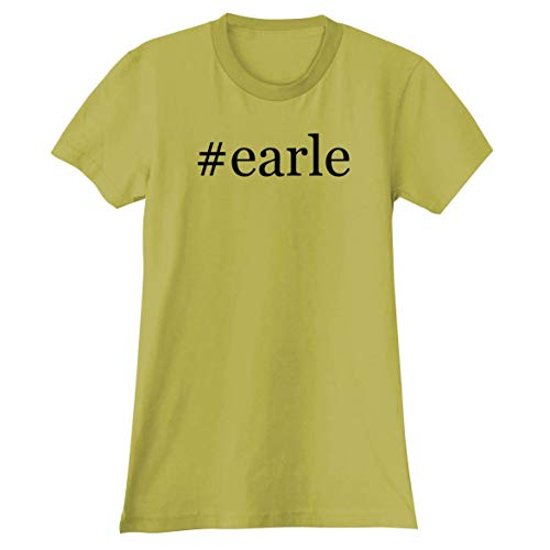 The Town Butler #Earle - A Soft & Comfortable Hashtag Women's Junior Cut T-Shirt, Yellow, XX-Large
