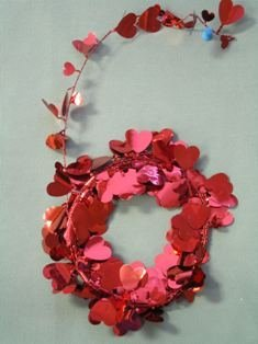 Garland Wire Heart (Party Deco 04514 12 ft. Red Hearts Wire Garland - Pack of 12)