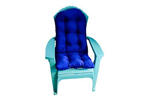 Outdoor Tufted Adirondack Chair Cushion - Sunbrella Canvas True Blue