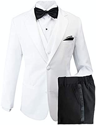 No Tail ERF012-SNB-012 Spring Notion Baby Boys Modern Fit Tuxedo Set