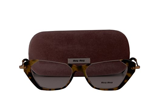 Miu Miu MU04OVA Eyeglasses Sand Yellow Havana w/Demo Lens HAN1O1 VMU04OV VMU 04OV 52mm (Glasses Com Order Status)